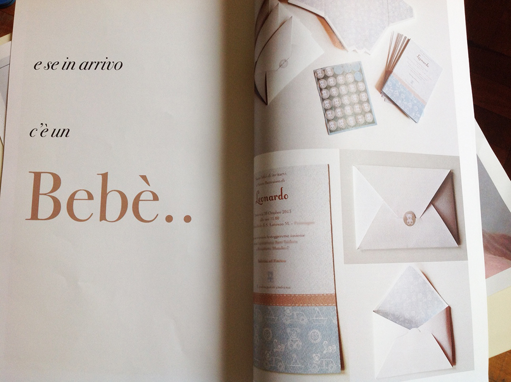 MAGAZINE WE CELEBRATE INVITI BATTESIMO BARBARAVOARINO DESIGN